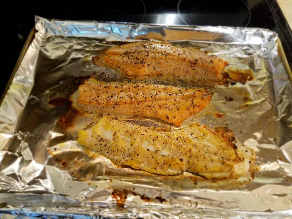 Baked Lake Trout and Coho